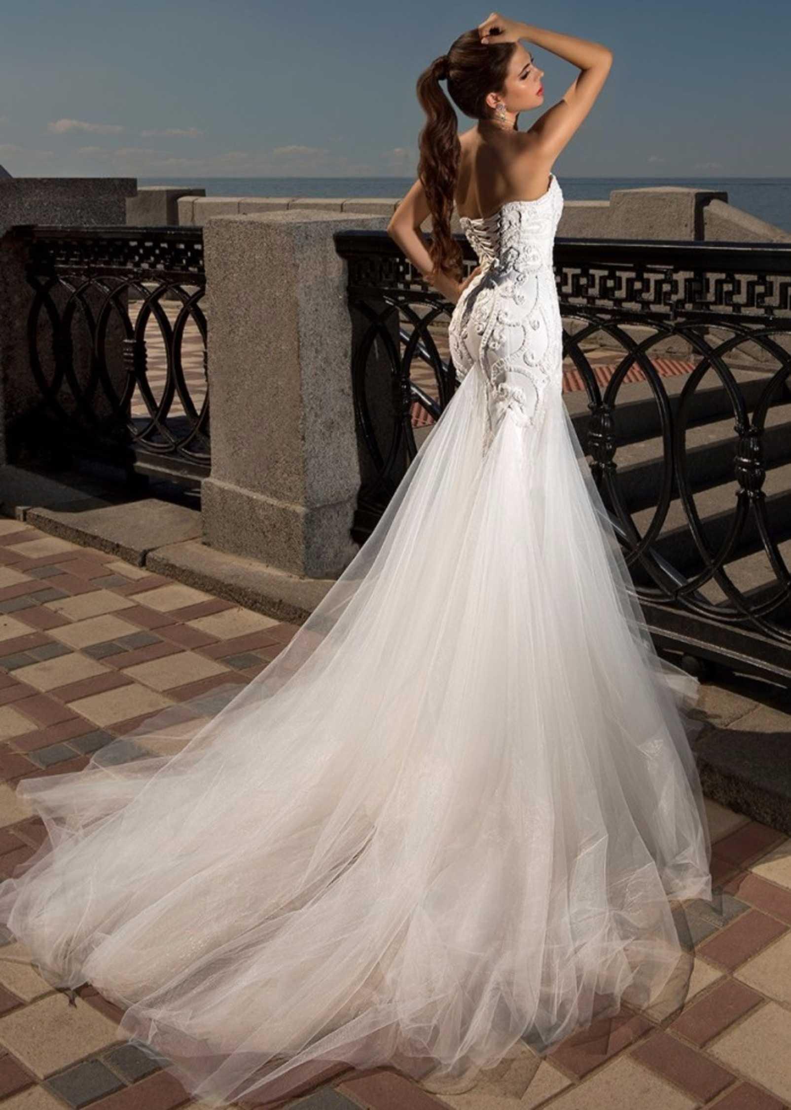 белые кружевные платья в пол купить
