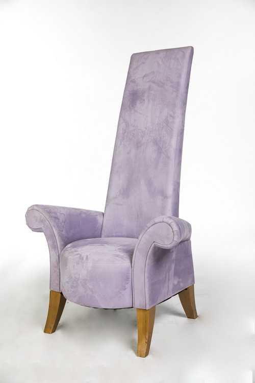 Взять в прокат Мебель Кресла Кресло с высокой спинкой сиреневое; Москва , улица Академика Королёва, 12 ул.; Описание: