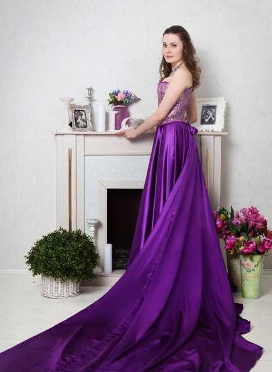 Фиолетовое платье на прокат