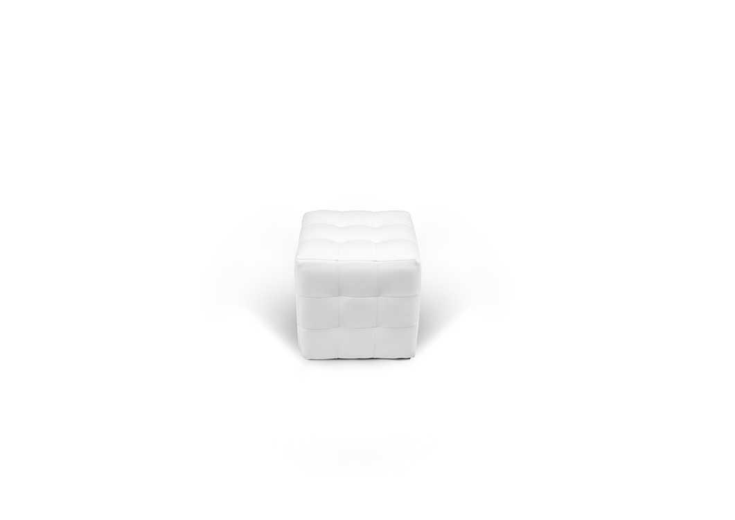 Взять в прокат Мебель Кресла PUFF White; Москва , Черницынский проезд, 3 ул.; Описание: ПУФ белый L 400 H 400