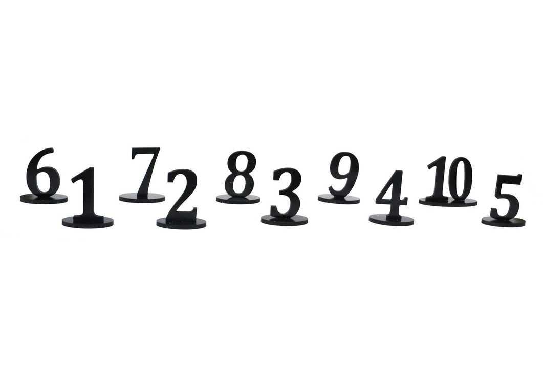 Взять в прокат Декор Другое Нумерация на 10 столов «Грачи»; Нижний Новгород ,  ул.; Описание: Сдается набором 1-10, в наличии номера до №16. Форма: Параллелепипед Высота: 12 см Ширина: 17 см Глубина: 6 см