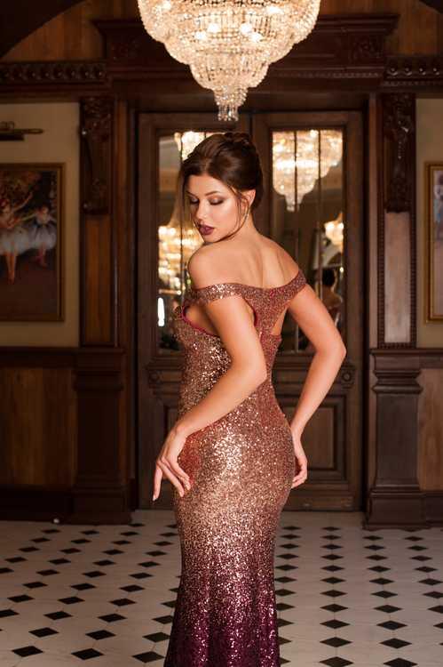 Взять в прокат Женская одежда Платья Золотистое вечернее платье омбре; Санкт-Петербург , Гатчинская улица, 28 ул.; Описание: