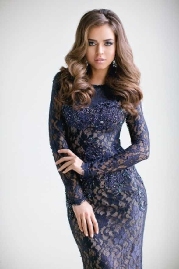 9a152c3993a АРЕНДОВАТЬ Платье Jovani Dark Blue Lace Evening Dress. Цена - 4500 р. за 3  дня