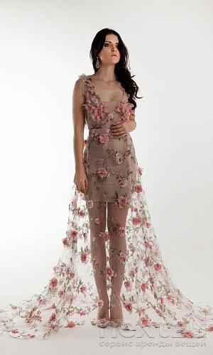 f644eeff5bb Взять в АРЕНДУ Платье Пеньюар с цветами. Цена - 2000 р. за 3 дня ...