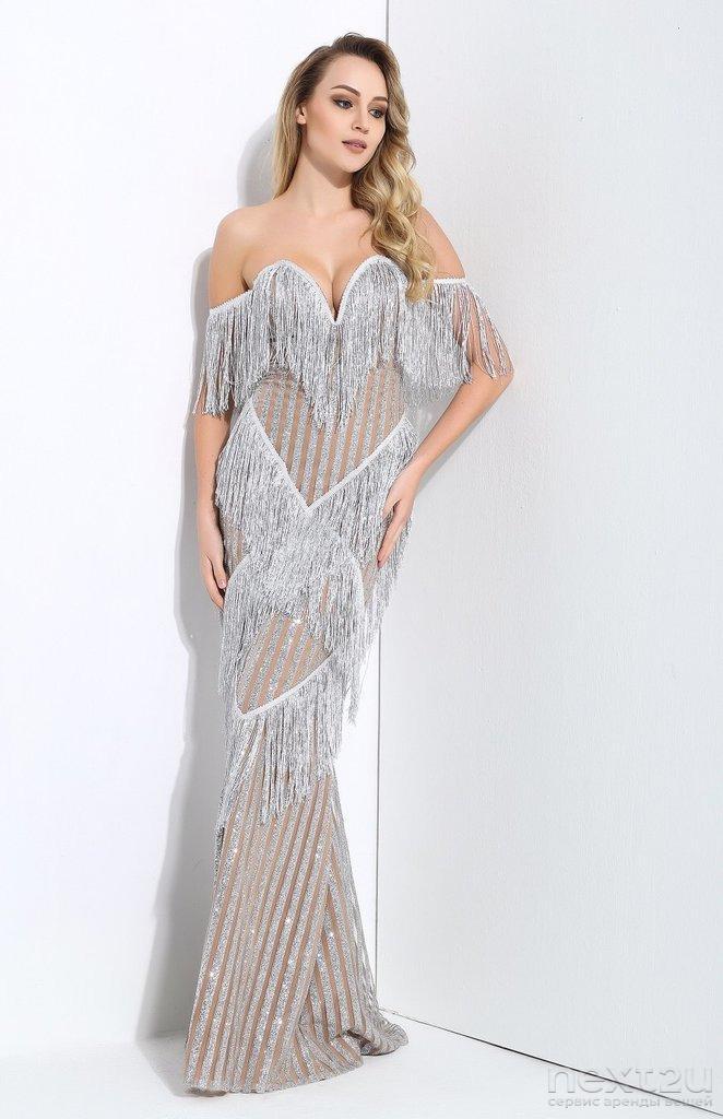 317c2db7141 Взять НАПРОКАТ Платье Серебристое платье с бахромой. Цена - 2000 р. за 3  дня