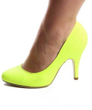 Обувь Туфли неоновые желтые  напрокат | Аренда и прокат – Москва