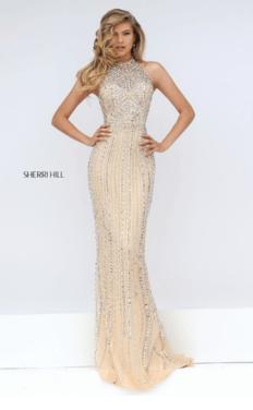 Платья Платье Sherri Hill Золотое 026 напрокат | Аренда и прокат – Москва