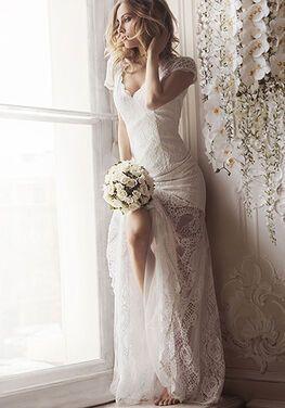 Платья White Lace Romantic Evening Dress напрокат | Аренда и прокат – Москва