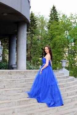Платья королевское синее платье  напрокат   Аренда и прокат – Нижний Новгород