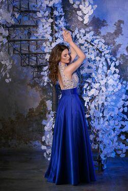 Платья Синее платье расшитое камнями напрокат | Аренда и прокат – Санкт-Петербург
