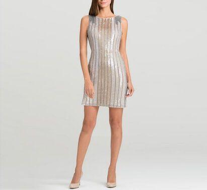 Платья Aidan Mattox , Dress White Gold напрокат | Аренда и прокат – Москва