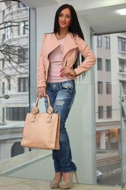 Верхняя одежда Куртка кожаная розовая напрокат | Аренда и прокат – Москва