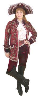 Исторические костюмы Камзол вишневый напрокат | Аренда и прокат – Москва