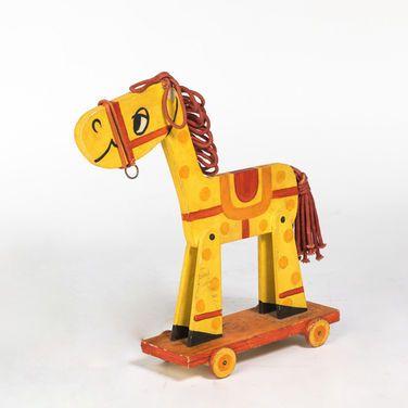 Игрушки Лошадка на колесах деревянная напрокат | Аренда и прокат – Москва