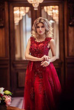 Платья Дизайнерское платье «Cherry Wine» напрокат | Аренда и прокат – Санкт-Петербург
