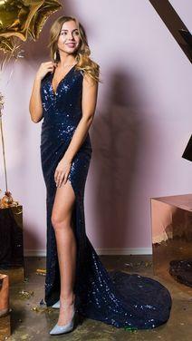 Платья Платье в пайетках с высоким вырезом напрокат | Аренда и прокат – Санкт-Петербург