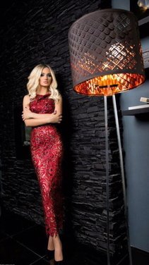 Платья Красное платье с 3D рисунком 089 напрокат | Аренда и прокат – Москва