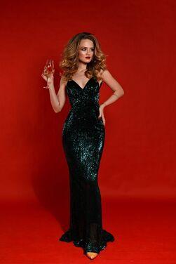 Платья Зеленое платье в пайетках  напрокат | Аренда и прокат – Санкт-Петербург