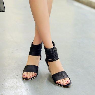 Обувь Босоножки женские черные кожаные напрокат | Аренда и прокат – Москва