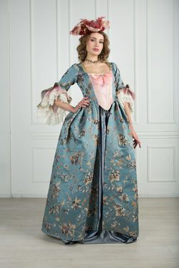 Исторические костюмы Платье 18 века VERSAILLES напрокат   Аренда и прокат – Москва