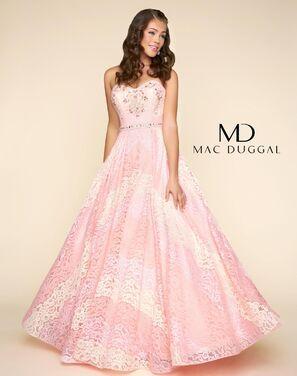 Платья Вечернее платье Mac Duqqal розовое напрокат | Аренда и прокат – Санкт-Петербург