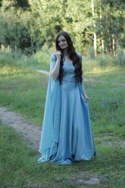 Королевский двор Эльфийское голубое платье  напрокат | Аренда и прокат – Москва