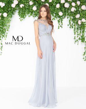 Платья Вечернее платье Mac Duggal серое напрокат | Аренда и прокат – Санкт-Петербург