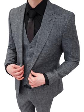 Костюмы Серый мужской костюм тройка (НОВЫЙ) напрокат | Аренда и прокат – Москва