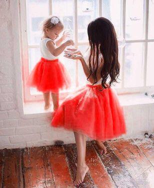 Юбки красная фатиновая юбка мама дочка напрокат | Аренда и прокат – Санкт-Петербург
