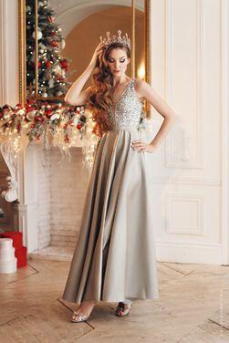Платья Вечернее серебристое платье  напрокат | Аренда и прокат – Санкт-Петербург