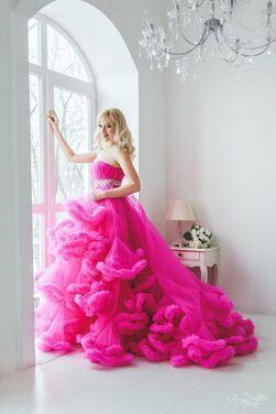 Платья Платье Облако Фуксия напрокат | Аренда и прокат – Москва