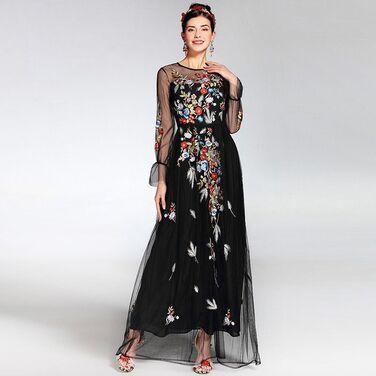 Платья Платье в пол с цветочной вышивкой напрокат | Аренда и прокат – Москва