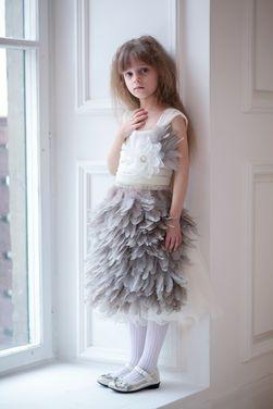 Платья и одежда для девочек Комплект Plumage Grey напрокат | Аренда и прокат – Москва