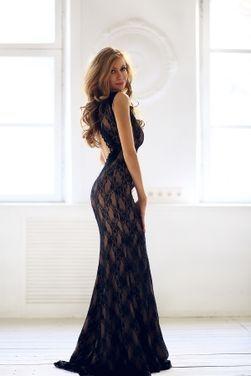 Платья Black Lace Top Evening Dress напрокат | Аренда и прокат – Краснодар