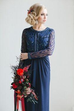 Платья Dark Blue Elegance Evening Dress напрокат | Аренда и прокат – Москва