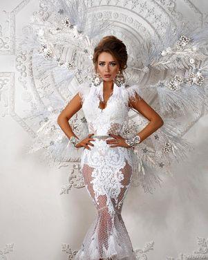 Платья Белое платье Irneste c перышками напрокат | Аренда и прокат – Москва