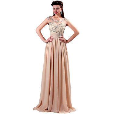 Платья Бежевое платье Grace Karin напрокат | Аренда и прокат – Москва