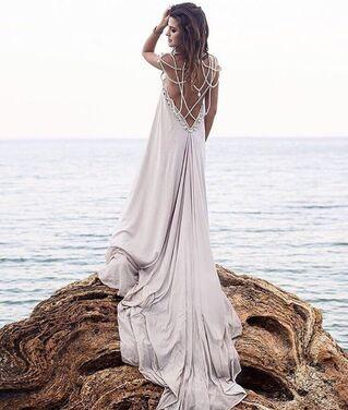 Платья Платье с бусами серебро  напрокат | Аренда и прокат – Москва
