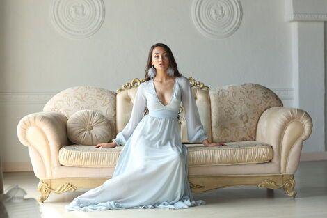 Платья Голубое шифоновое платье Melissa напрокат | Аренда и прокат – Москва