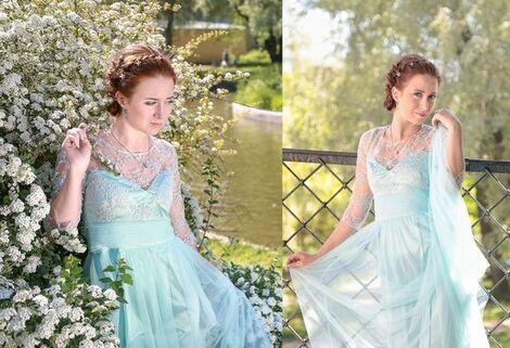Платья Бирюзовое платье в пол напрокат | Аренда и прокат – Санкт-Петербург