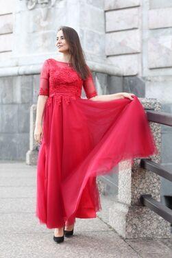 Платья Бордовое платье в пол напрокат | Аренда и прокат – Санкт-Петербург