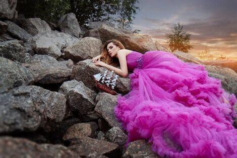 Платья Платье-облако цвета фуксии напрокат | Аренда и прокат – Санкт-Петербург