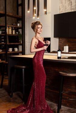 Платья Бордовое платье с пайетками  напрокат | Аренда и прокат – Санкт-Петербург