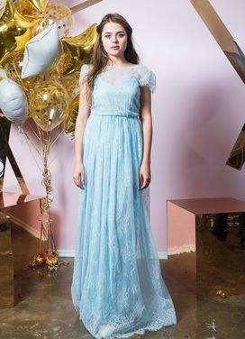 Платья Нежно-голубое платье  напрокат | Аренда и прокат – Санкт-Петербург