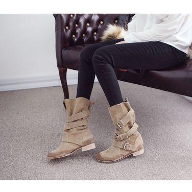 Обувь Женские замшевые ботинки бежевые напрокат | Аренда и прокат – Москва