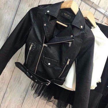 Верхняя одежда Черная кожаная куртка косуха напрокат | Аренда и прокат – Москва
