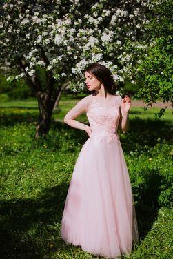 Платья Коктейльное пудровое платье напрокат | Аренда и прокат – Санкт-Петербург