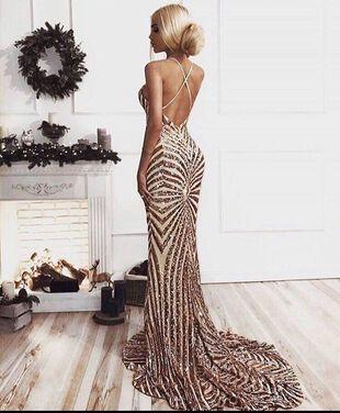 Платья Вечернее платье Розовое золото напрокат | Аренда и прокат – Санкт-Петербург