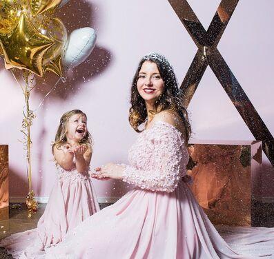 Платья Нежно-розовый комплект мама+дочка напрокат | Аренда и прокат – Санкт-Петербург
