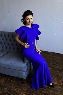 Платья Original Bright Blue Evening Dress напрокат | Аренда и прокат – Краснодар